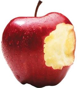 Bite the apple.